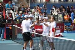 Bryan) (d'Etats-Unis/Bryan (Etats-Unis) contre Soares (SOUTIEN-GORGE) /Ullyett (Z Image stock