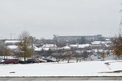 Bryant Denny Stadium un jour de neige Photo stock