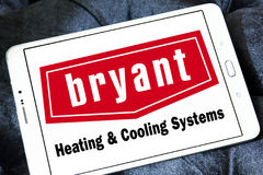 Bryant heating and cooling systems company logo Royalty Free Stock Images