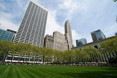 Bryant Park and buildings, New York City Stock Photos