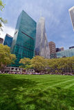 Bryant Park and buildings, New York City Stock Photo