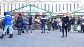 Bryant Park Christmas Market stock video