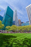 Bryant Park e construções, New York City Fotografia de Stock