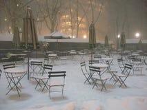 Bryant Park en la nieve, New York City, los E.E.U.U. Fotos de archivo