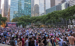 Bryant Park Film Festival Royalty Free Stock Images
