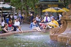 Bryant Park Fountain foto de stock royalty free