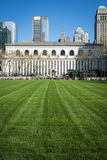 Bryant Park lawn, New York City Library Stock Image