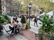Bryant Park at Lunchtime, Eating Lunch Outside, New York City, NY, USA