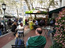 Bryant Park at Lunchtime, Piano in Bryant Park, New York City, NY, USA
