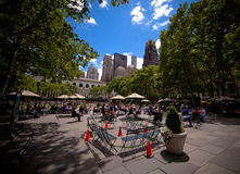 Bryant Park in Manhattan in New York City. Bryant Park is a 9.603 acre (39,000 m²) privately-managed public park located in the New York City borough of Royalty Free Stock Image