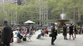 Bryant Park New York City in 4K stock footage