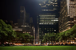 Bryant Park New York City Skyline  Night Royalty Free Stock Photo