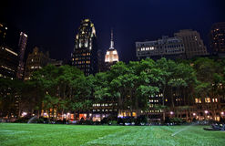 Bryant Park New York City Skyline  Night Stock Image