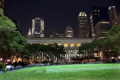 Bryant Park New York City Skyline  Night Royalty Free Stock Photography