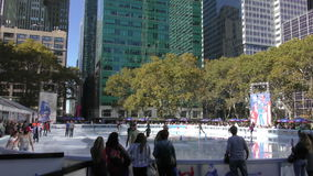 Bryant Park, new York City stock video footage