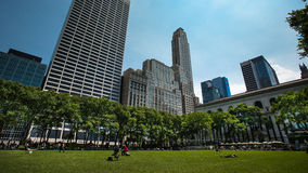 Bryant Park and The New York public Library Stock Photography