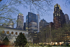 Bryant park at night Royalty Free Stock Photography