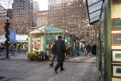 Bryant Park NYC Christmas Stock Photos