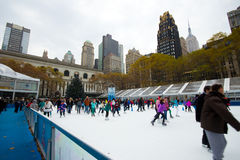 Bryant Park NYC Christmas Season Royalty Free Stock Photos