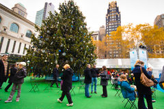 Bryant Park NYC Christmas Season Stock Image