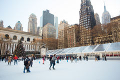 Bryant Park NYC Christmastime Royalty Free Stock Photography