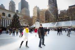 Bryant Park NYC jultid Royaltyfri Foto