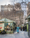 Bryant Park NYC Shopping Royalty Free Stock Image