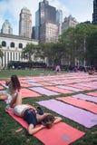 Bryant Park Yoga Mats Royalty-vrije Stock Fotografie
