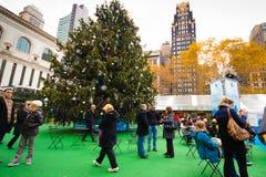 Bryant parkerar NYC-julsäsong Fotografering för Bildbyråer