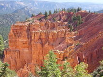 bryce多个峡谷的碎片 库存图片