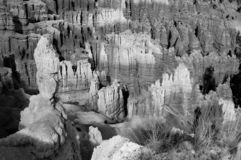 bryce峡谷不祥之物光 库存图片