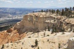 bryce峡谷俯视 免版税库存图片