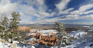 bryce峡谷全景冬天 库存图片