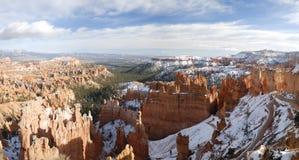 bryce峡谷全景冬天 库存照片