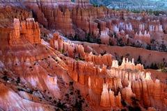bryce峡谷全景 图库摄影