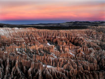 bryce峡谷冬天日出#2 免版税库存图片
