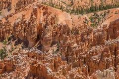 bryce峡谷形成岩石 免版税库存图片