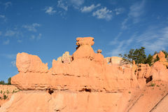 Bryce峡谷横向 库存图片
