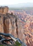 bryce峡谷点 库存图片