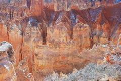 bryce峡谷焕发不祥之物 库存照片