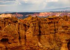 Bryce Canyo Walls som ska klättras Arkivbilder