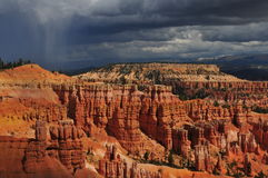 Bryce Canyon. Utah, on a rainy day, with the sun peeking through the clouds Royalty Free Stock Photography