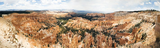 Bryce Canyon. Panoramic view over the beautiful Bryce Canyon, USA Stock Images