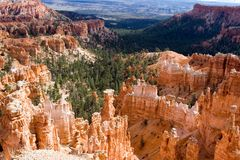 Bryce Canyon. Looking down into Bryce Canyon stock photography