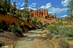 Bryce Canyon. Landscape View of a Bryce Canyon against dramatic blue sky Royalty Free Stock Photography