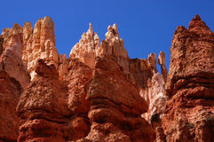 Bryce Canyon 2. Reddish hoodoos made of sandstone shot against a deep blue sky Stock Photo