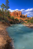 Bryce Canyon. Hoodoos on Mossy Creek Trail in Bryce Canyon Royalty Free Stock Photo