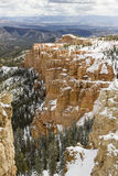 Bryce Canyon. National Park with snow, southwestern Utah, United States royalty free stock image