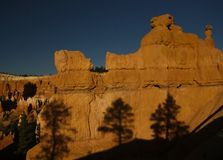 Bryce canyon. Rock formation in bryce canyon  utah Stock Image