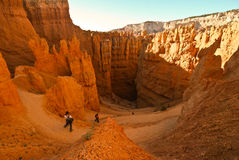 Bryce canyon. Rock formation and sand lanscapec in bryce canyon - usa Stock Image